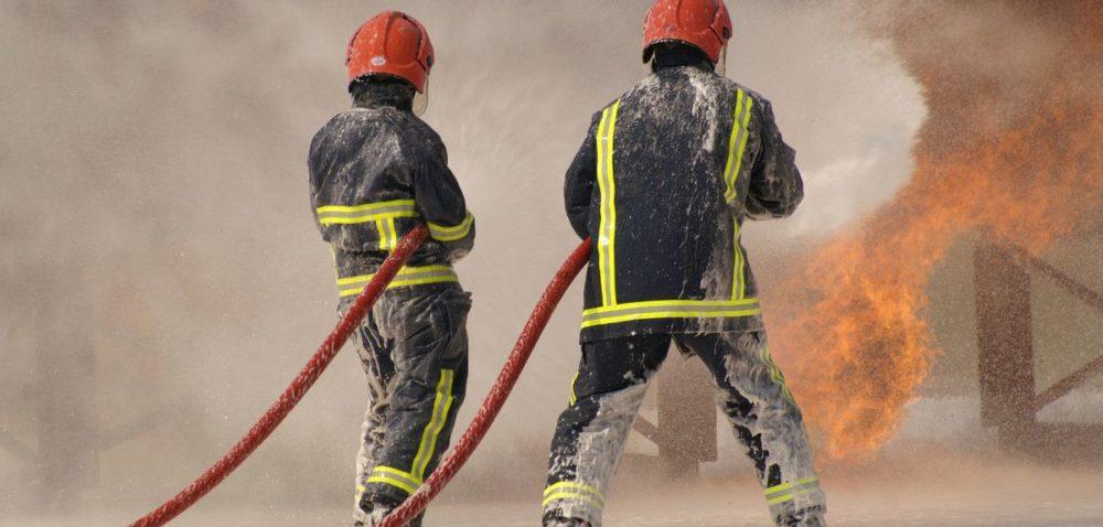 Pożar fermy drobiu wLisowicach koło Prochowic
