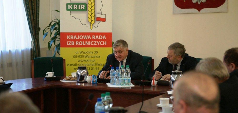 Spotkanie Jurgiela zprzedstawicielami izb rolniczych