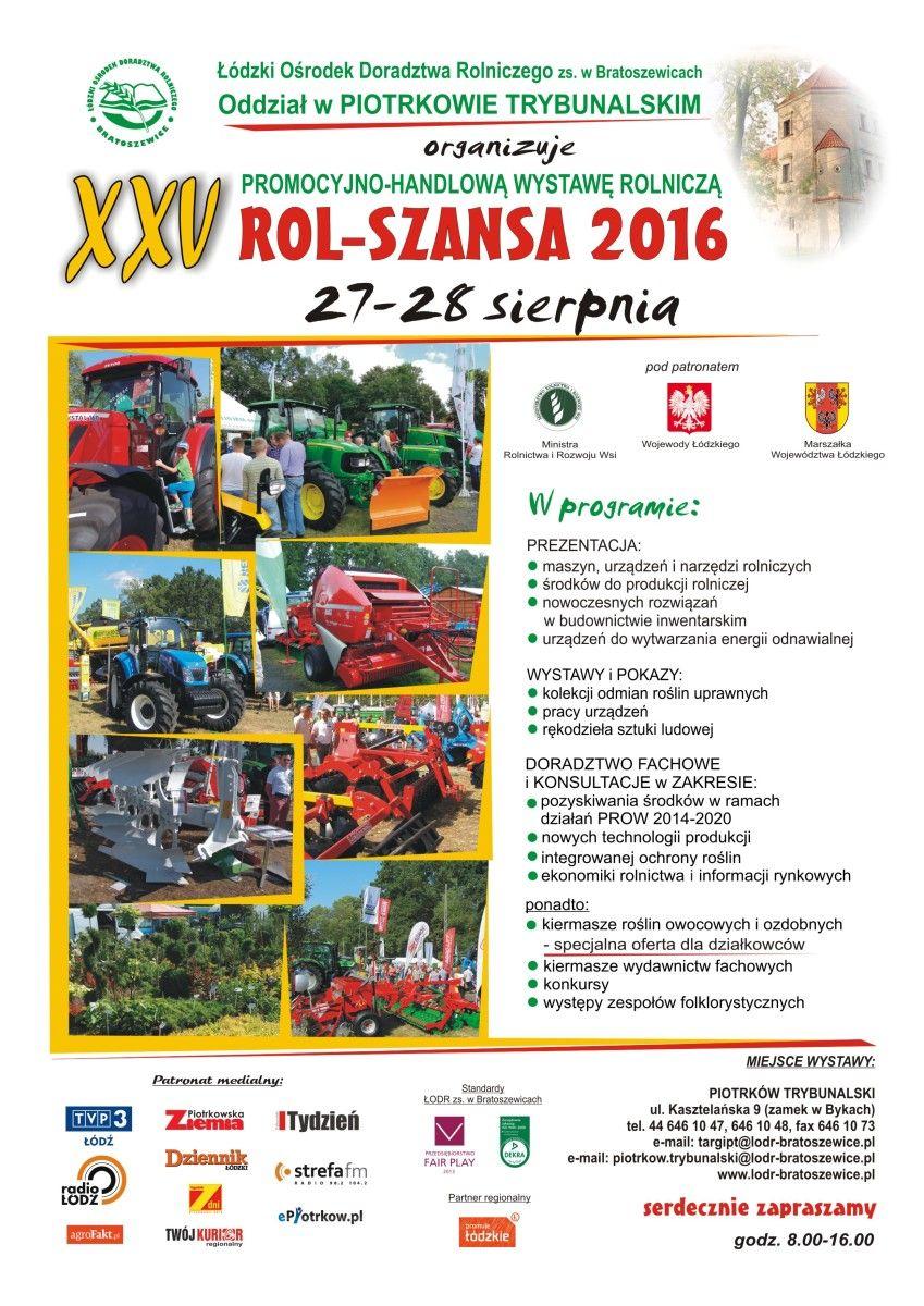 Plakat Rol-Szansa 2016