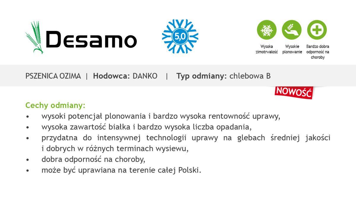 Czym charakteryzuje się pszenica ozima Desamo?