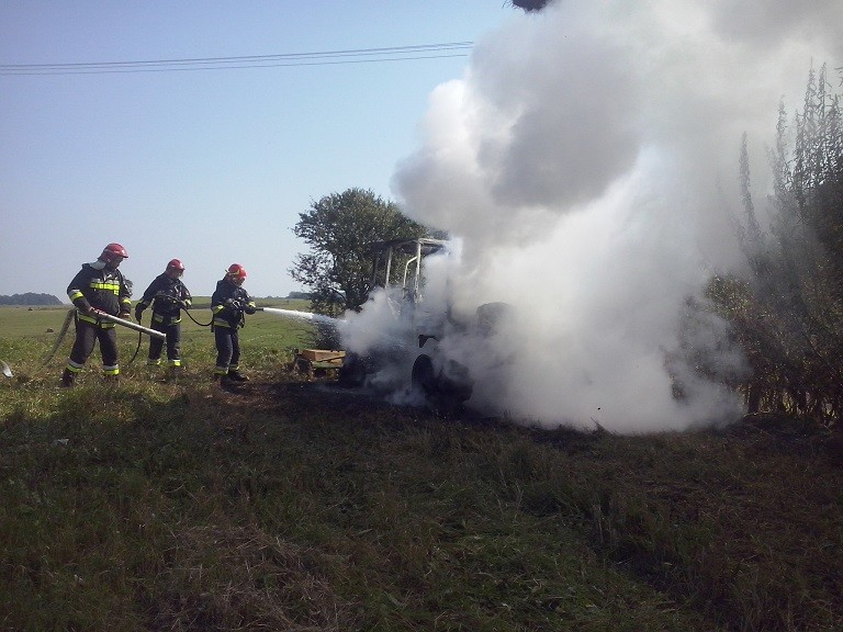 pożar ciągnika