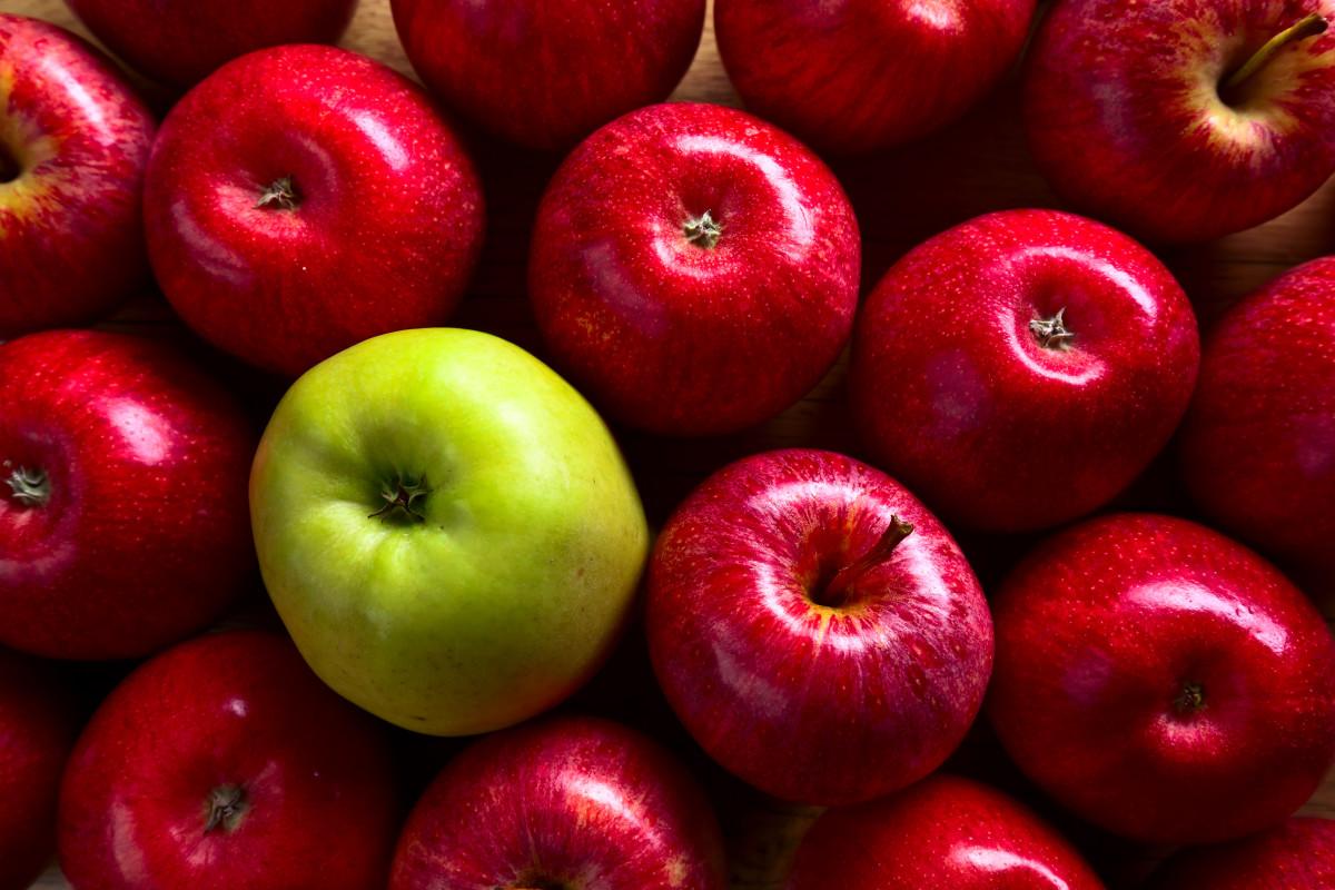 jabłka wysokiej jakości