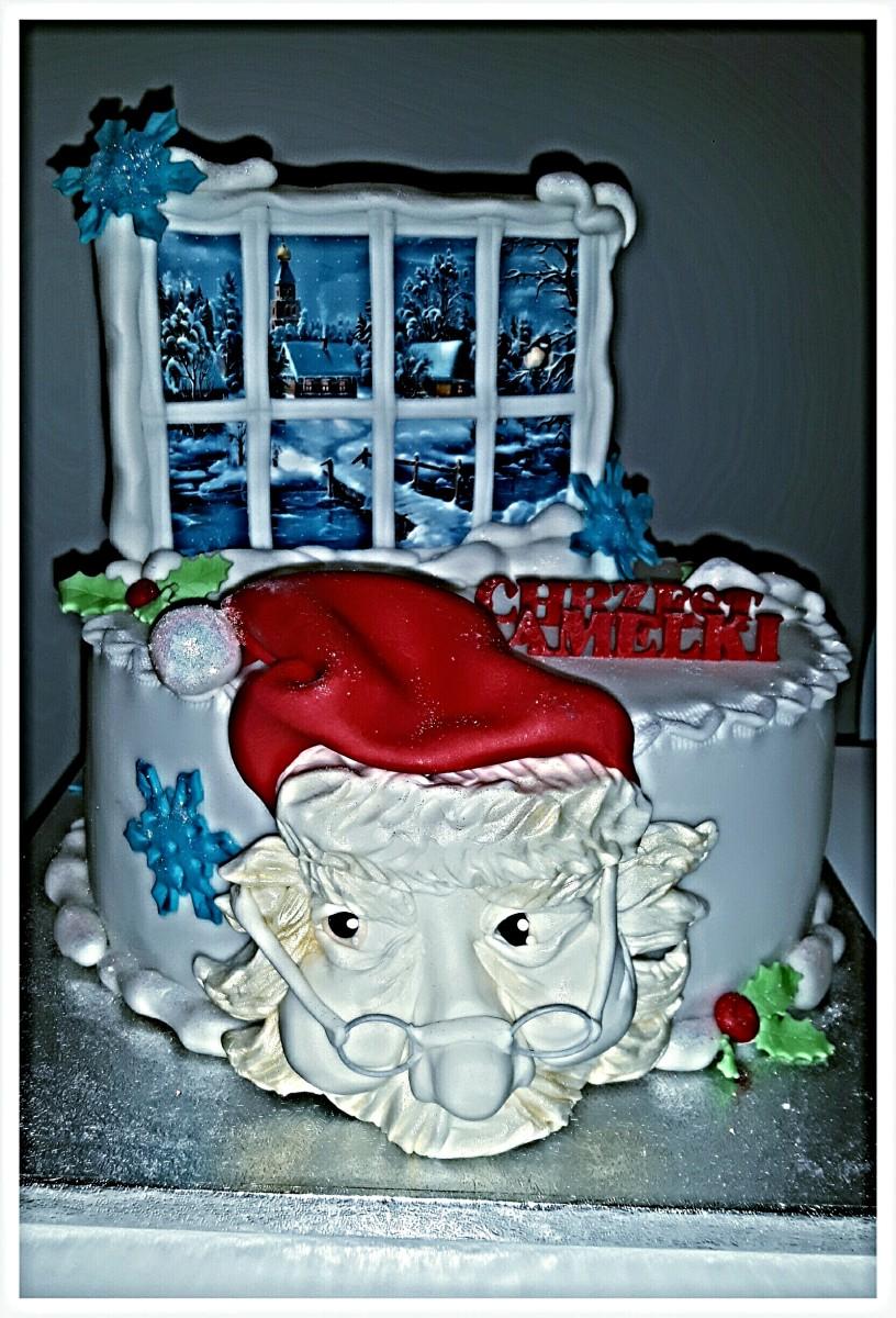 magiczny tort chrzcinowy
