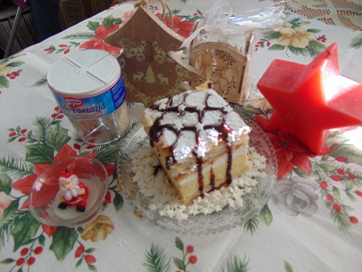 kremowka z ciasta francuskiego