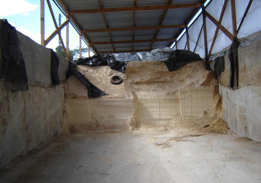 silos betonowy do przechowywania kukurydzy
