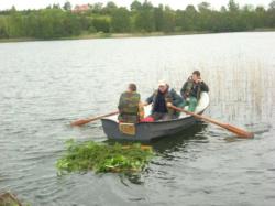 Zajęcia na jeziorze