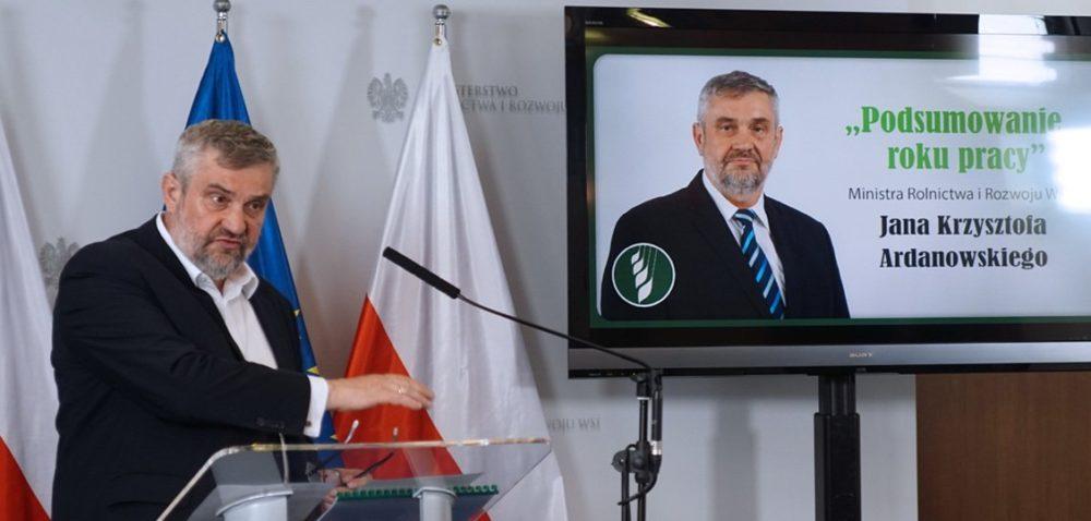 Rolnictwo jest na dobrej drodze – mówi minister Ardanowski wrocznicę objęcia stanowiska [AKTUALNOŚCI]