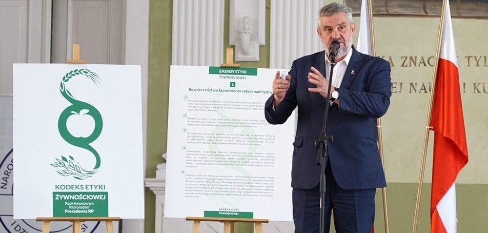 Minister do rolników – etyka włańcuchu żywnościowym jest równie ważna!