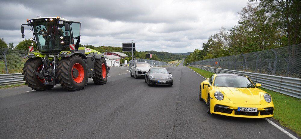 Claas Xerion debiutuje na torze wyścigowym!
